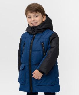 пальто button blue для мальчика, синее