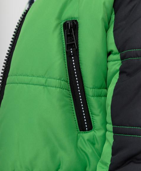 Зеленое зимнее пальто Button Blue