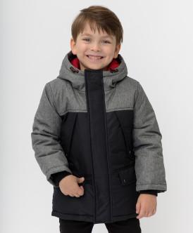 пальто button blue для мальчика, черное