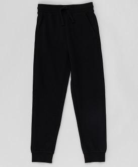 Купить 220BBBMC56010800, Черные брюки из футера Button Blue, черный, 122, Мальчики