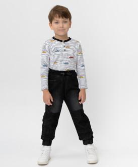 Купить 220BBBMC6302D300, Черные джинсы Button Blue, черный, 122, Мальчики
