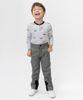 Серые демисезонные брюки Button Blue