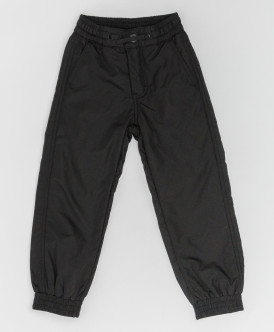 Черные демисезонные брюки Button Blue