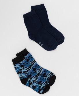 носки button blue для мальчика, синие
