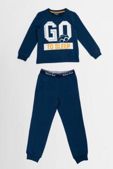 пижама button blue для мальчика, синяя