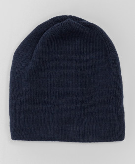 Синяя шапка с завязками Button Blue