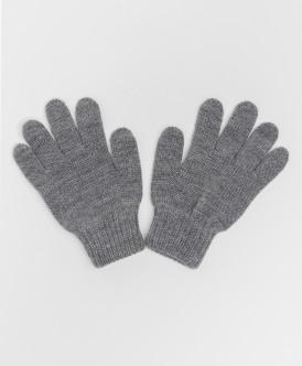 перчатки button blue для мальчика, серые