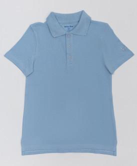 Голубое поло с коротким рукавом Button Blue