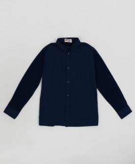 Синяя рубашка на кнопках