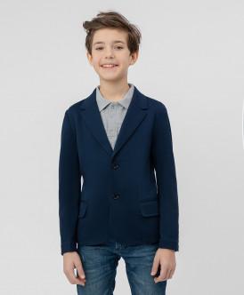 Синий трикотажный пиджак Button Blue