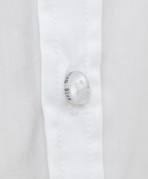 Белая приталенная рубашка Button Blue