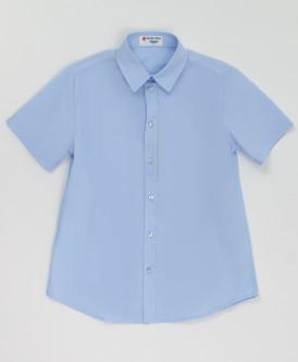 Голубая рубашка с коротким рукавом Button Blue