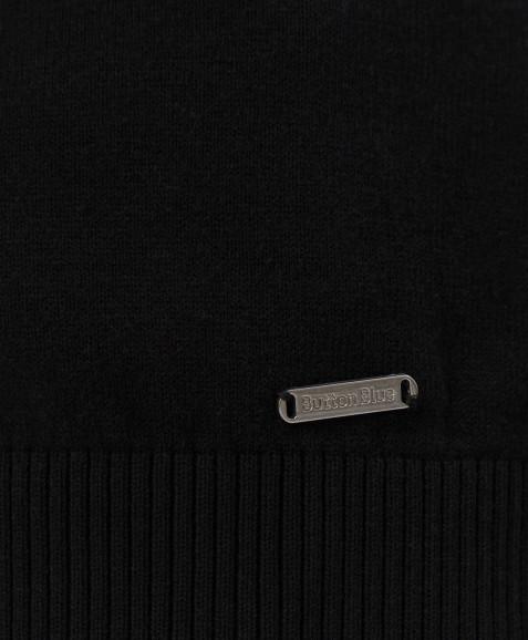 Черный тонкий кардиган Button Blue