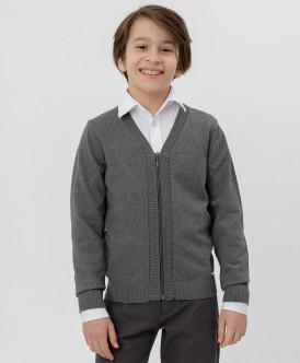 кардиган button blue для мальчика, серый