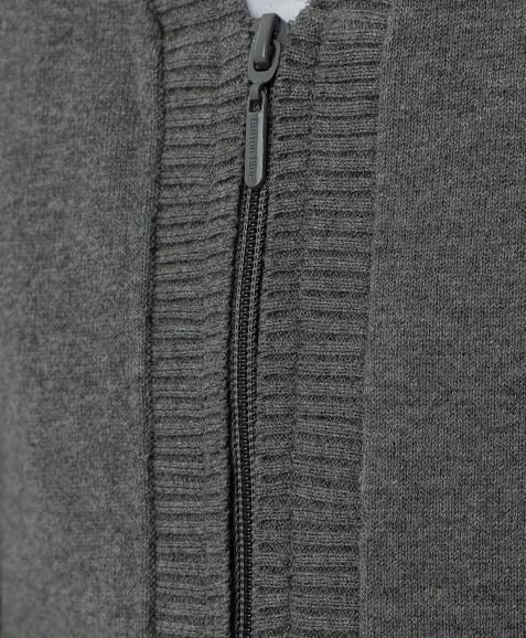 Серый тонкий кардиган