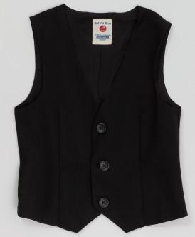 Черный классический жилет Button Blue