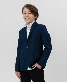 пиджак button blue для мальчика, синий
