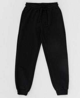 Купить 220BBBS56010800, Черные брюки из футера Button Blue, черный, 122, Мальчики