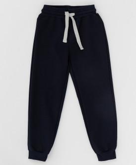 Синие брюки из футера 220BBBS56011000 фото