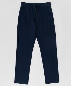 Синие брюки на шнурке