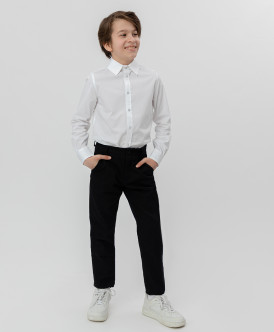 Купить 220BBBS63010800, Черные брюки-слим Button Blue, черный, 122, Мальчики