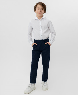 Синие брюки-слим Button Blue