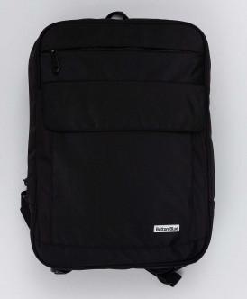 Черный рюкзак с плотной спинкой Button Blue