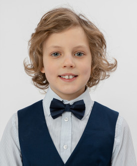 Синий галстук-бабочка