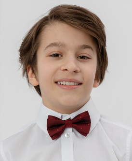 Красный галстук-бабочка Button Blue