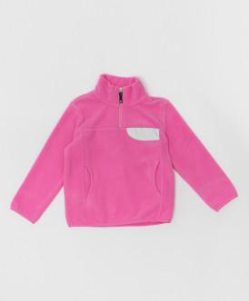 Розовая флисовая толстовка Button Blue