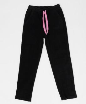 Черные флисовые брюки Button Blue