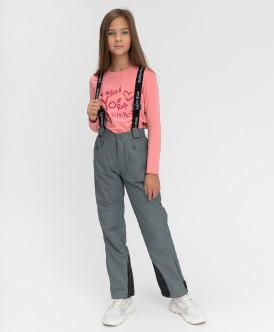 Купить 220BBGA64012000, Демисезонные брюки Active Button Blue, серый, 152, Девочки