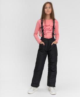Купить 220BBGA64021000, Зимние брюки Active Button Blue, черный, 152, Девочки