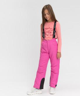 Купить 220BBGA64021200, Зимние брюки Active Button Blue, розовый, 152, Девочки