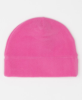 Розовая флисовая шапка Button Blue