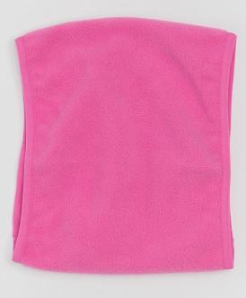 Розовый флисовый воротник
