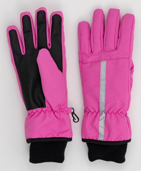 Розовые плащевые перчатки