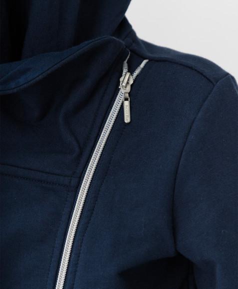 Темно-синяя толстовка Button Blue