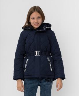 Купить 220BBGJC41021000, Темно-синяя демисезонная куртка Button Blue, синий, 152, Девочки