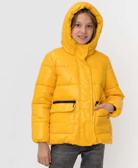 Купить 220BBGJC41032700, Желтая зимняя куртка Button Blue, желтый, 152, Девочки