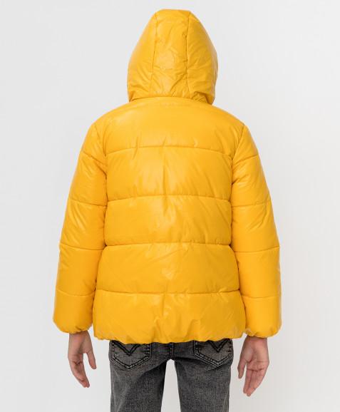 Желтая зимняя куртка Button Blue