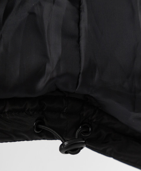 Черное зимнее пальто с поясом Button Blue