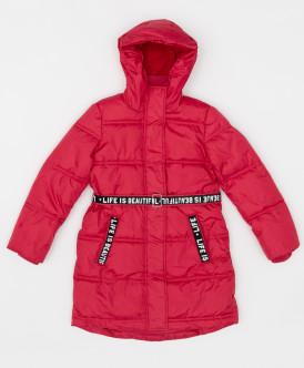 Купить 220BBGJC45023500, Розовое зимнее пальто с поясом Button Blue, розовый, 146, Девочки