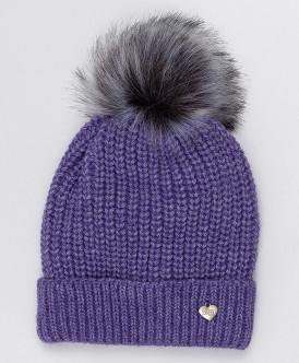 шапка button blue для девочки, сиреневая