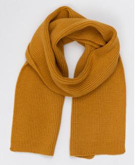 Желтый вязаный шарф