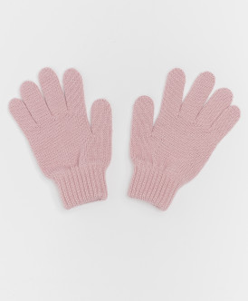Розовые вязаные перчатки Button Blue