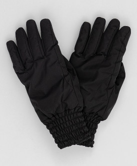 перчатки button blue для девочки, черные