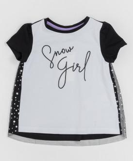 Черно-белая футболка с сеткой