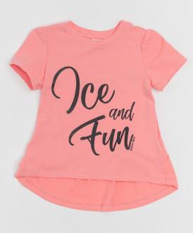 Розовая футболка с глиттером