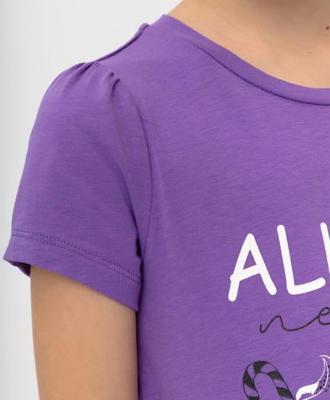Сиреневая футболка с глиттером